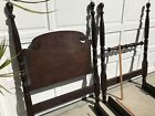 ANTIQUE TWIN BED FRAME ORIG. FAM. 2 SETS OF RAILS FOR EX. LNG. MATT.