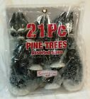 LEMAX COVENTRY COVE - 21pc Pine Tree Lot - CHRISTMAS VILLAGE - HO Train - New