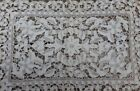 Lace Panel Flowers and Leaves Hand Made Crotched Scalloped Runner Table Cloth