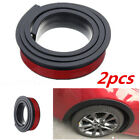 2x Car Wheel Arch Trim Fender Flare Wheel Eyebrow Protector Sticker Rubber Strip