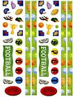 2 Large Sheets FOOTBALL Border SPORTS Trophy Scrapbook Stickers