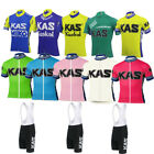 KAS Cycling Jersey Bib Short Retro Road Pro MTB Short Sleeve Bike Clothing