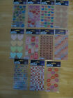 Sticko Stickers Valentines Hearts Lips U PICK NEW IN PACKAGE FREE SHIPPING