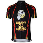 CRANKY OLD BASTARD Cycling Jersey Retro Road Pro Clothing MTB Short Sleeve