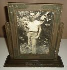 Antique Vintage Wooden  TILTING PHOTOGRAPH  PICTURE FRAME with Glass