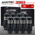 8x AUXITO 3157 3156 Turn Signal Brake Tail Light Bulb 6000K Super Bright Red LED
