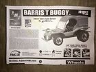 AMT ERTL 1/25 BARRIS T BUGGY INSTRUCTION SHEET MPC 1:25 Scale