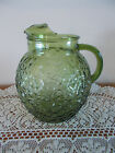 VINTAGE ANCHOR HOCKING AVOCADO GREEN LIDO OR MILANO 2 QUART BALL PITCHER