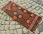 Fabulous Antique Rare Awesome Design Caucasian Collectors Item Fragment Rug