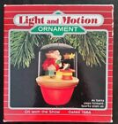 1988 Hallmark On With the Show Santa and Sparky Lighted Ornament