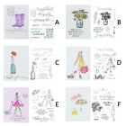 Silicone Transparent Clear Rubber Stamp Cling DIY Scrapbooking Card Craft Decors