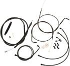 LA-8150KT-04M LA Choppers Cable/Brake Line Kit Beach Bars & Extra Wide Midnight
