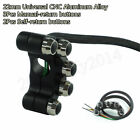 5in1 CNC Motorcycle Handlebar Mount Headlight Fog Lamp Horn Brake ON-OFF Switch