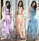 5 color Summer Women's Fashion Boho Long Maxi Dress Sleeveless Lady Beach Dresse