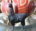 Beautiful Hand Carved Wooden Llama 7 inches Tall