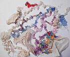 COLORFUL assortment Vintage hand Tatted, cutter lace trim edging Doll, craft