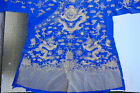 Fine Old Chinese Silk Embroidery Textile Robe Scholar Work Of Art