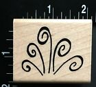 WIND BLOW SWIRL JRL Design Wood Mounted Rubber Stamp