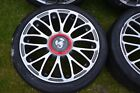 Fiat Abarth 500 595 Diamomd Cut Alloy Wheels with Tyres