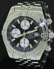 Breitling Chonomat Evolution A13356 SS auto. chrono. men's watch w/ black dial