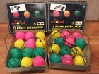 Vintage 2 Sets Of Blow Mold Patio Party Lights 24 Total Green Yellow Pink