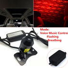Red LED Star Light Car Interior USB Ceiling Lamp Voice Music Control w Remote
