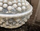 Hobnail Opalescent Moonstone Anchor Hocking Covered Dish Candy Dish Milk Glass