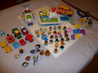 Fisher Price Little People Huge Lot 67 Pieces Figures Cars Plane Bus Helicopter