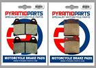Sachs X-Road 125 2008 Full Set Front & Rear Brake Pads (2 Pairs)