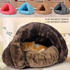 Pet Dog Cat Cave Igloo Bed Basket House Kitten Soft Cozy Indoor Cushion Kennel