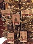 Handmade Primitive Vintage Red Truck/Woody Wagon Tags /Ornies CHRISTMAS TREE