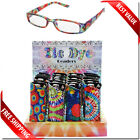 Wholesale Reading Glasses Bulk Lot 24 Readers with DISPLAY and Pouch Tie Dye NEW