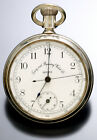 Timing & Repeating Watch Co. Chronograph Pocket Watch Silver Plated Nickel C1890