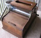 Antique Original LARGE Expression Hand Crank Music Box in Wooden Cabinet