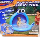 Banzai Playful Puffer Fish Spray Pool Canopy Sprinkler Inflatable Kiddie Splash