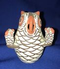 SMALL VINTAGE NELLIE BICA ZUNI NATIVE AMERICAN OWL STORYTELLER FIGURE SIGNED