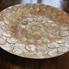 Large Multi Color Capiz Shell Bowl Tray Mid Century Modern Style