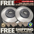 O0888 1999 2000 323I 323 i E46 SEDAN BLACK HUB BRAKE ROTORS CERAMIC PADS F+R