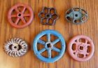 Lot 6 pc Old Vintage Water Knobs Valve Handle - Steampunk Crafts