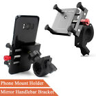 Motorcycle Dirt Bike Phone GPS 360° Rotation Mount Holder with 2 Kinds Brackets