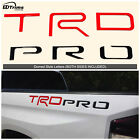 Red  Black TRD Pro Domed Letters for Toyota Tundra 2014 2020 Raised Bed Inserts