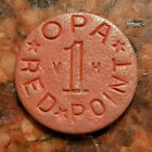 1942 45 OPA RED POINT V H WW2 US RATION TOKEN 5469