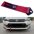 Red Front Rear Bumper Dodge SRT HELLCAT Hell Cat Tow Strap Towing Hook Tow Ropes