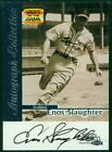 Original Autograph of Enos Slaughter HOF of the Cardinals on a 1999 Fleer