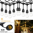 24/48ft Outdoor Vintage Commercial Grade Patio Globe String Lights Tungsten Bulb