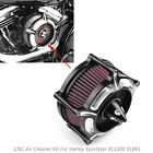 CNC Turbine Air Cleaner Filter For Sportster XL883 XL1200 1991 2016 17 18