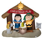 NEW 6 FT TALL CHRISTMAS PEANUTS SNOOPY WOODSTOCK NATIVITY INFLATABLE BY GEMMY