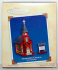 2004 HOMETOWN CHURCH & Marquee Sign NEW Hallmark Town and Country Ornament