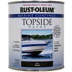 Boat Paint Marine Topside Gloss UV Abrasions Resistant Black 1 Quart Made in USA