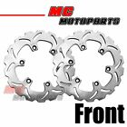 Solid Front Brake Disc Rotor 2 pc Set For Kawasaki Z750 Turbo GPX 1000R GPZ 900R
